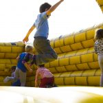 Kids enjoying bounce house rental