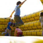 Kids enjoying bounce house rental