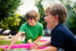 Kids enjoying bouncy house rental